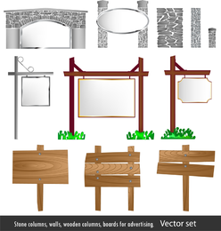Patio de estilo europeo vector de elementos
