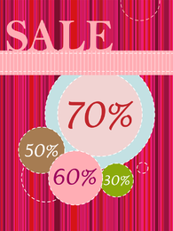 Shopping Page Templates And Elements Of Vector