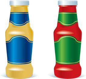 Vector botella de estilos