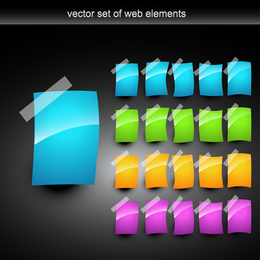 Web Design Colorful Decorative Elements Vector