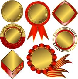 Set of 7 ornamental badges