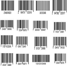 Etiqueta de Código de Barras 01 Vector