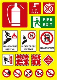 Vetor de logotipo de tema de fogo