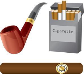 Cigarette Clip Art set
