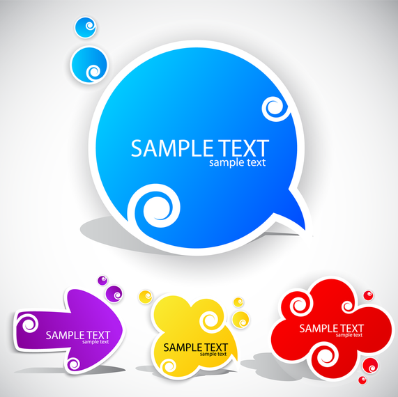 Beautiful Stickers 03 Vector 3 Download Large Image