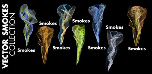 Rauch-Vektor-mehrfarbige Linien