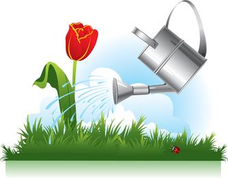 Gardening Theme 02 Vector