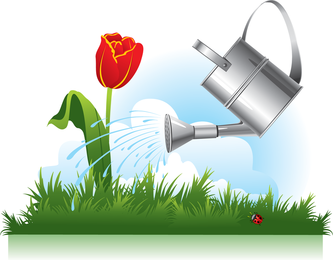 Vetor de tema de jardinagem 02