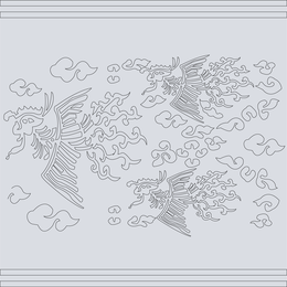 Classical Chinese Auspicious Phoenix Map Vector