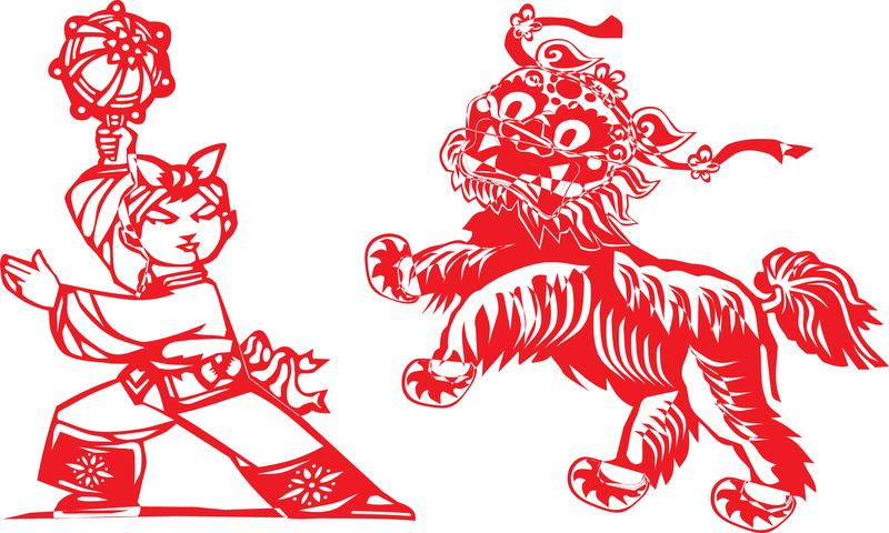 Lion Papercut Vector
