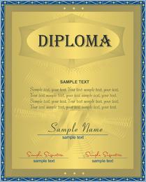 Certificado de diseño de tres vectores