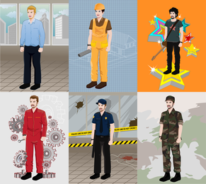 Various Professional Figures Vector