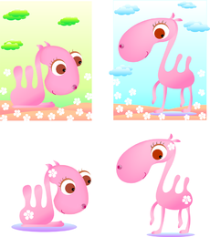 Camelo-de-rosa do vetor