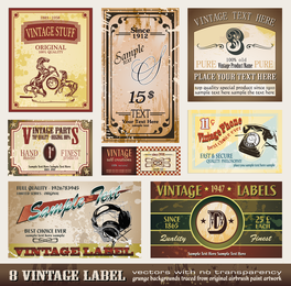Variety Of European Label Vector 2
