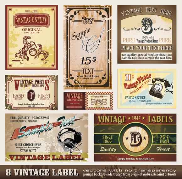 Variety Of European Label Vector 2