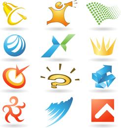 Logotipo práctico plantilla Vector 2 gráficos