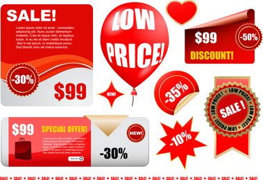 Class Sets Of Discount Sales Vector
