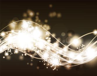 Lindo brilhante luz das estrelas 10 efeitos vetoriais