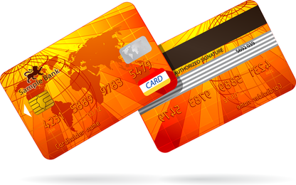 Bankkarte Geldstrafe 03 Vektor