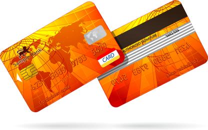 Tarjeta Bancaria Fina 03 Vector