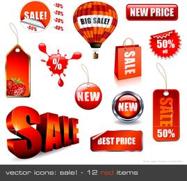 Decoraciones de ventas vectoriales