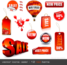 Salesrelated Decorations Vector