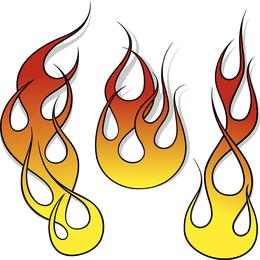 Variedad de arte práctico clip de fuego Totem