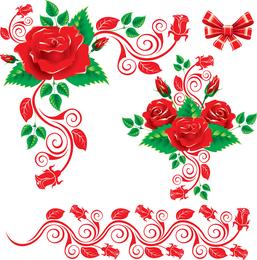 El hermoso vector de encaje rosa