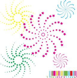 Vector Color Bar Rotating Stars