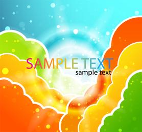 Nubes coloridas ilustración vectorial