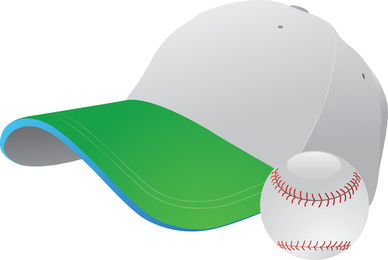 Béisbol y gorra de gráficos vectoriales