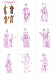 Vector 2 ropa tradicional china