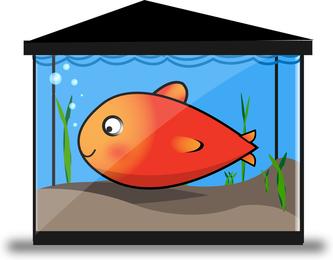 Tanque de peixes de ouro de vetor livre