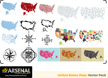 Gomedia Produced Map Compass Vector