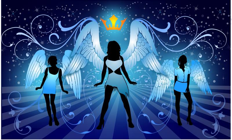 Night Angels Free Vector Illustration