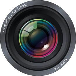 Lentes de cámara ultra realistas gráficos vectoriales gratis