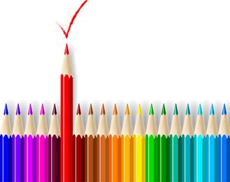 Vectores de lápices de colores