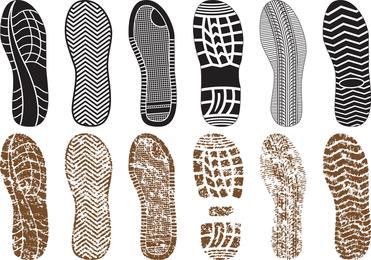 Una variedad de zapatos finos de impresión 03 Vector