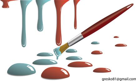 Ilustração de gotas de tinta