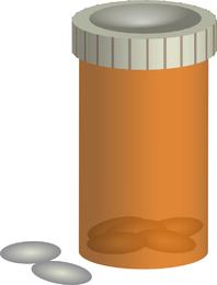 Vector de botella de píldora