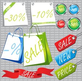 Promoción de venta relacionada con vector