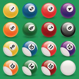 Snooker Pool Ball Vectors