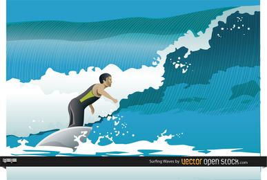 Papel de Parede Ondas de Surf