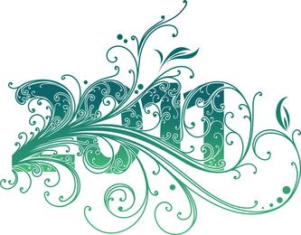 Gráfico de vetor de design de redemoinho de ano novo de 2011