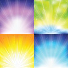 Colorido Sunburst gráficos vectoriales