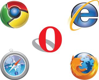 Gratis Ie Chrome Firefox Safari Opera Logo Vector
