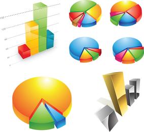 Freie dreidimensionale Diagramm-Vektor-Grafik