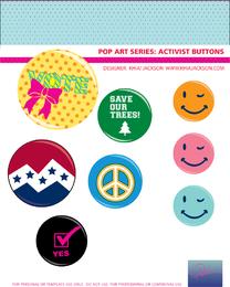 Los vectores botón de la campaña