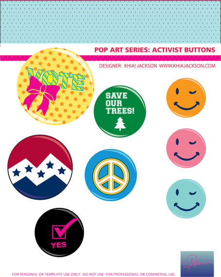 Campaign Button Vectors