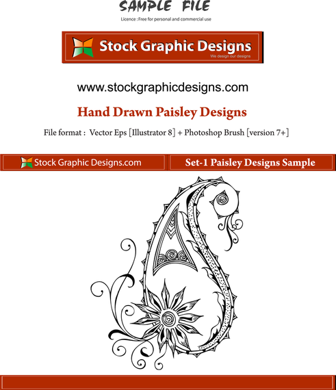 Vector Paisley Designs